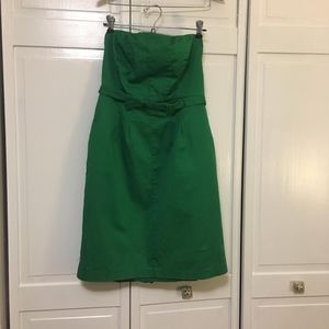 NWOT The Limited green strapless dress w/ POCKETS!